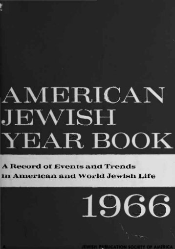 AMERICAN JEWISH YEAR BOOK - AJC Archives