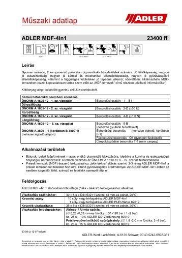 ADLER MDF-4in1 23400 ff - ADLER - Lacke