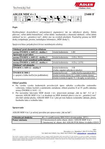 ADLER MDF 4 v 1 23400 ff - ADLER - Lacke