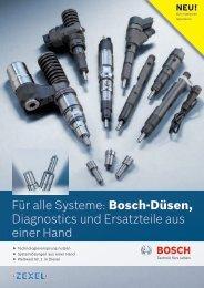 Für alle Systeme: Bosch-Düsen, Diagnostics und Ersatzteile aus ...