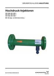 Hochdruck-Injektoren - Alldos
