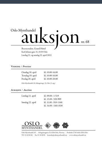 Last ned PDF katalog - Auksjon 68 - Oslo Mynthandel