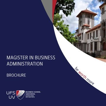 magister in business administration - Business School - University of ...