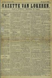 Zondag 6 Januari 1901. 58° Jaar N° 2946. Bureel en Werkhuizen ...