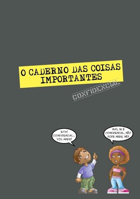 O CADERNO DAS COISAS IMPORTANTES