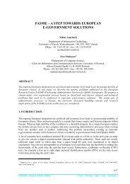 FASME -- A Step Towards European e-Government Solutions