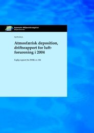 Atmosfærisk deposition, driftsrapport for luft- forurening i 2004