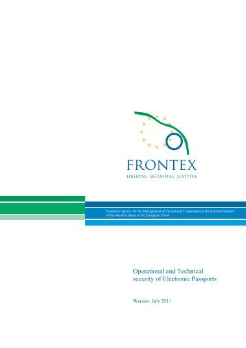 Operational and Technical security of Electronic ... - Frontex - Europa