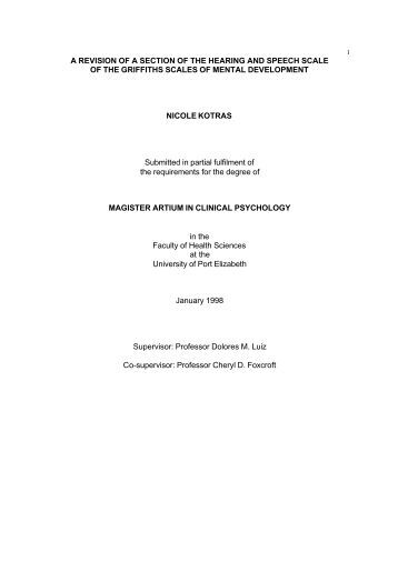 master thesis on psychology