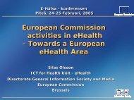 eHealth Action Plan - Sapientia - utvecklingscenter för vård och ...