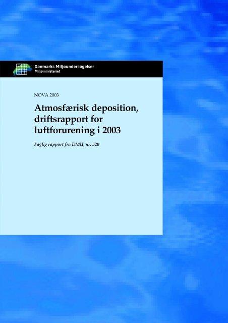 Atmosfærisk deposition, driftsrapport for luftforurening i 2003