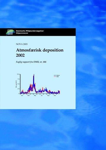 Atmosfærisk deposition 2002 - Danmarks Miljøundersøgelser