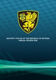 security police of the republic of estonia annual review 2006