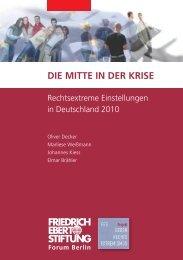 Die Mitte in der Krise - Bibliothek der Friedrich-Ebert-Stiftung