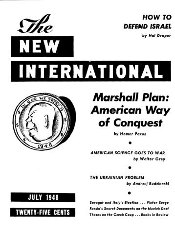 (Whole No. 126), July 1948 - Marxists Internet Archive