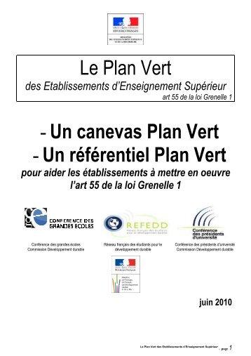 Plan Vert - Bienvenue sur les pages Développement Durable de l'UNS