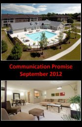Communication Promise September 2012 - Beacon Communities