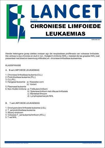 Chroniese Limfositiese Leukemie (CCL) Feb2001.cdr