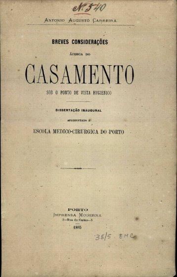 CASAMENTO - Repositório Aberto da Universidade do Porto