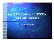 X-STRAALFOTO ONDERSOEK VAN DIE SKOUER - Dr Stadler Kirsten
