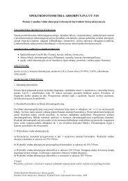 spektrofotometria absorpcyjna uv-vis - Wydział Fizyki i Informatyki ...