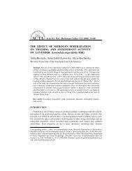 THE EFFECT OF NITROGEN FERTILIZATION ON YIELDING AND ...