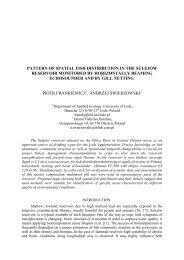 P. Frankiewicz, A. Świerzowski Pattern of spatial fish distribution in ...