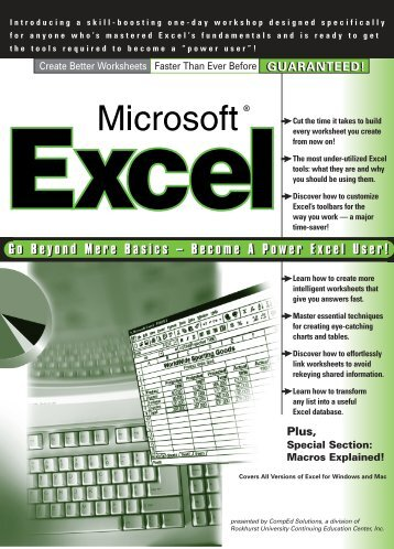 Go Beyond Mere Basics – Become A Power Excel User!