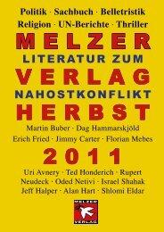 Das Verlagsprogramm Herbst 2011