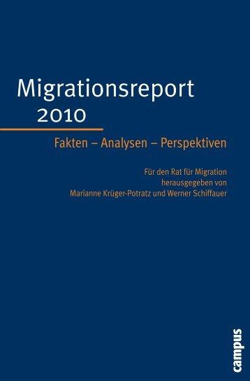 Migrationsreport 2010 - Rat für Migration