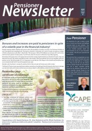 Pensioner - Cape Retirement Fund