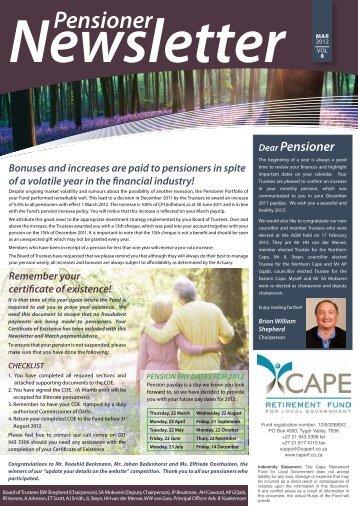 Pensioner - Cape Retirement Fund