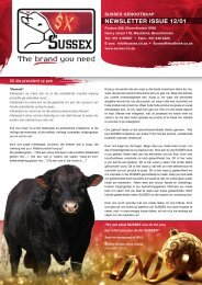 NEWSLETTER ISSUE 12/01 - Sussex Cattle Breeders Society