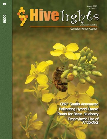 2009 August Hivelights_low res.pdf - Canadian Honey Council