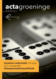 Invasieve colorectale chirurgie CO2-angiografie ... - AZ Groeninge