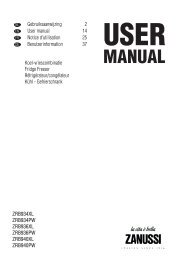 Zanussi ZRB 936 X Fridge Freezer Operating Instructions User ...