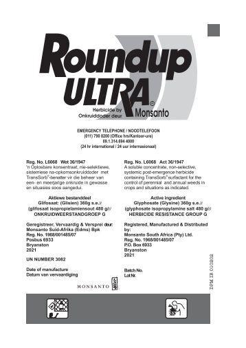 msds roundup transorb hc herbicide liquide monsanto. Black Bedroom Furniture Sets. Home Design Ideas