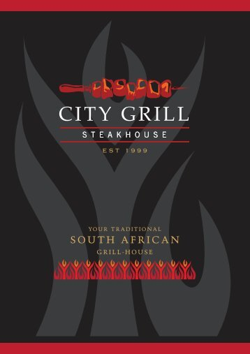 A la Carte menu - City Grill