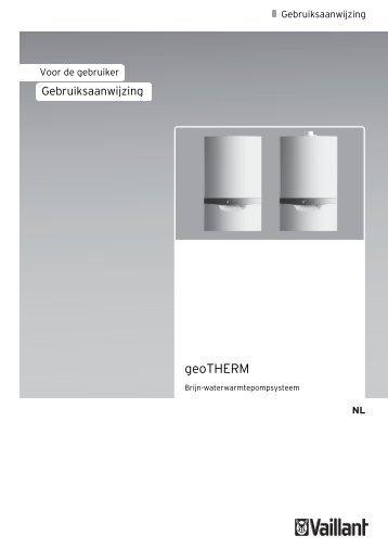 Gebruiksaanwijzing Vaillant 3 kW geoTHERM hybride ... - NBD-online