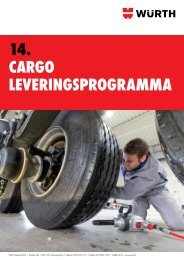 14. cargo leveringsprogramma - Würth Nederland