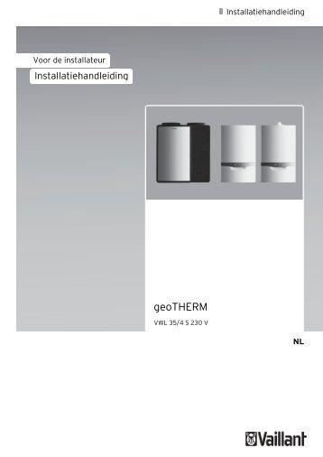 Installatiehandleiding Vaillant 3 kW geoTHERM ... - NBD-online