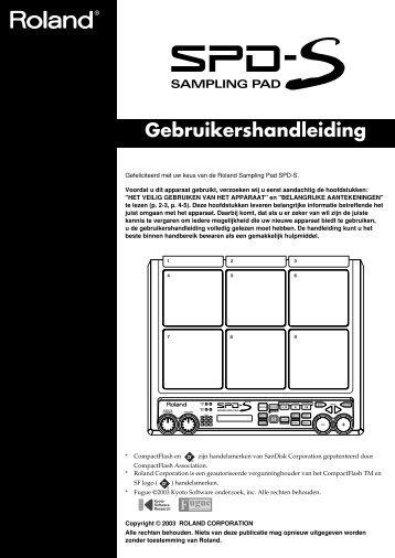 Gebruikershandleiding - Roland Central Europe