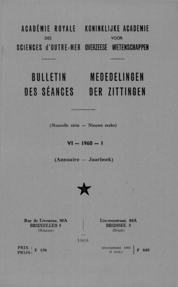bulletin mededelingen des séances der zittingen - Royal Academy ...