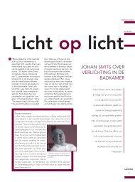 Johan SMiTS oVEr VErliChTinG in dE BadKaMEr - Lichtconsult.nl