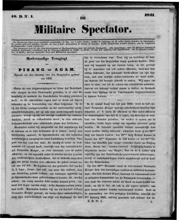 Militaire Spectator. - Boekje Pienter