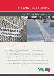 Aluminium lAufsteg - access group gmbh
