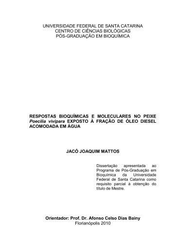 Respostas bioquímicas e moleculares no peixe Poecilia vivipara ...
