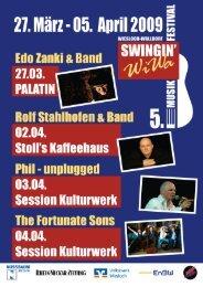 Bluestage im Capitol Musikclub Hauptstr. 49a ... - Swingin' WiWa
