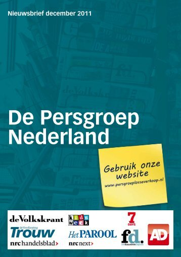 De Persgroep Nederland - Losse Verkoop