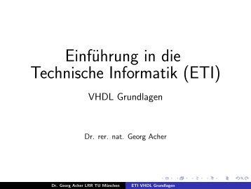 ETI VHDL Grundlagen - LRR